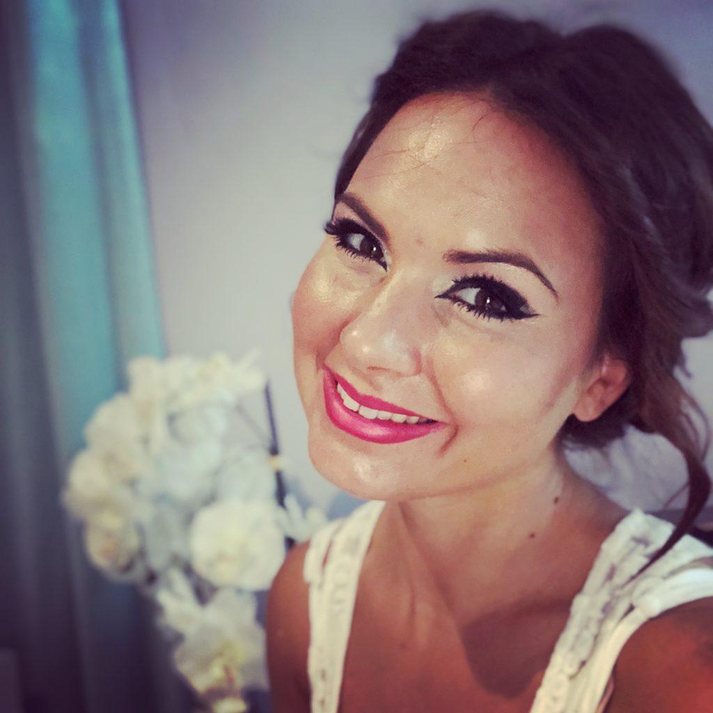 Maquillaje de Manuela Cabellero bailarina de danza del vientre